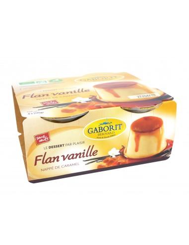 Flan vanille Bio nappé de caramel 4 x 100 g