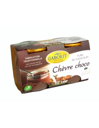 Flan au chocolat au lait bio de chèvre 2 x 125 g