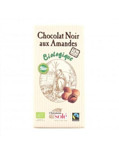 Chocolat noir 73% aux amandes