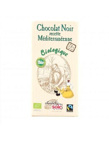 Chocolat Noir 73% Cacao Recette Méditerranéenne 100g x 10 - Solé